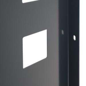 Blech Element anthrazit Detail Lochung
