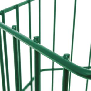 Gabionensäule sechseckig Detail moosgrün