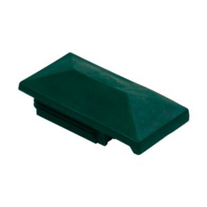 Pfostenkappe mit Dachüberstand moosgrün